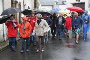 Une pluie battante qui n'a pas découragé les amoureux du patrimoine